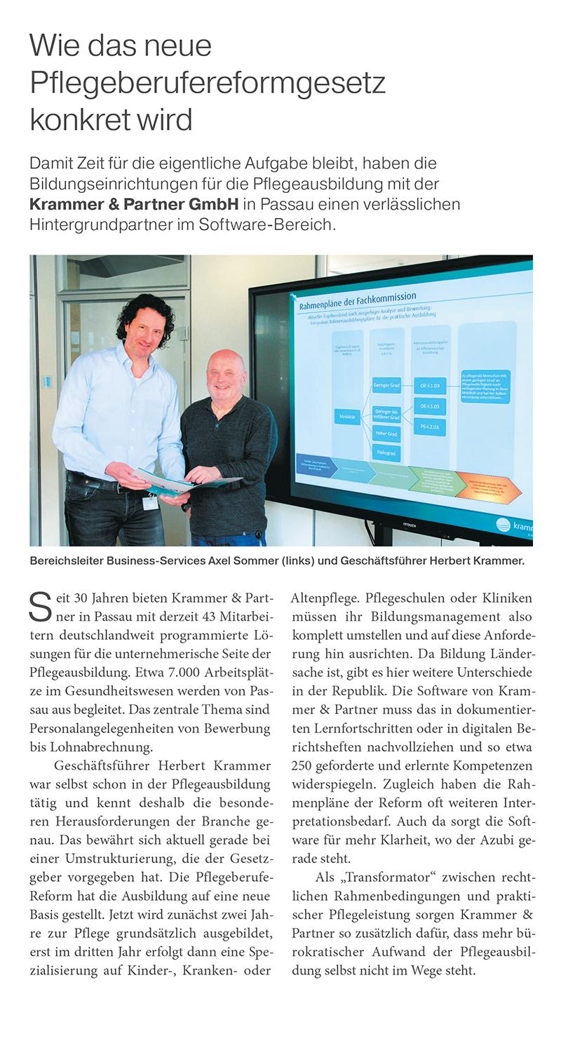 IHK-Zeitschrift, Neues Pflegeberufereformgesetz