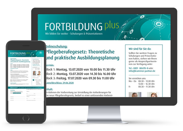 Krammer und Partner, Fortbildungen, FORTBILDUNGplus